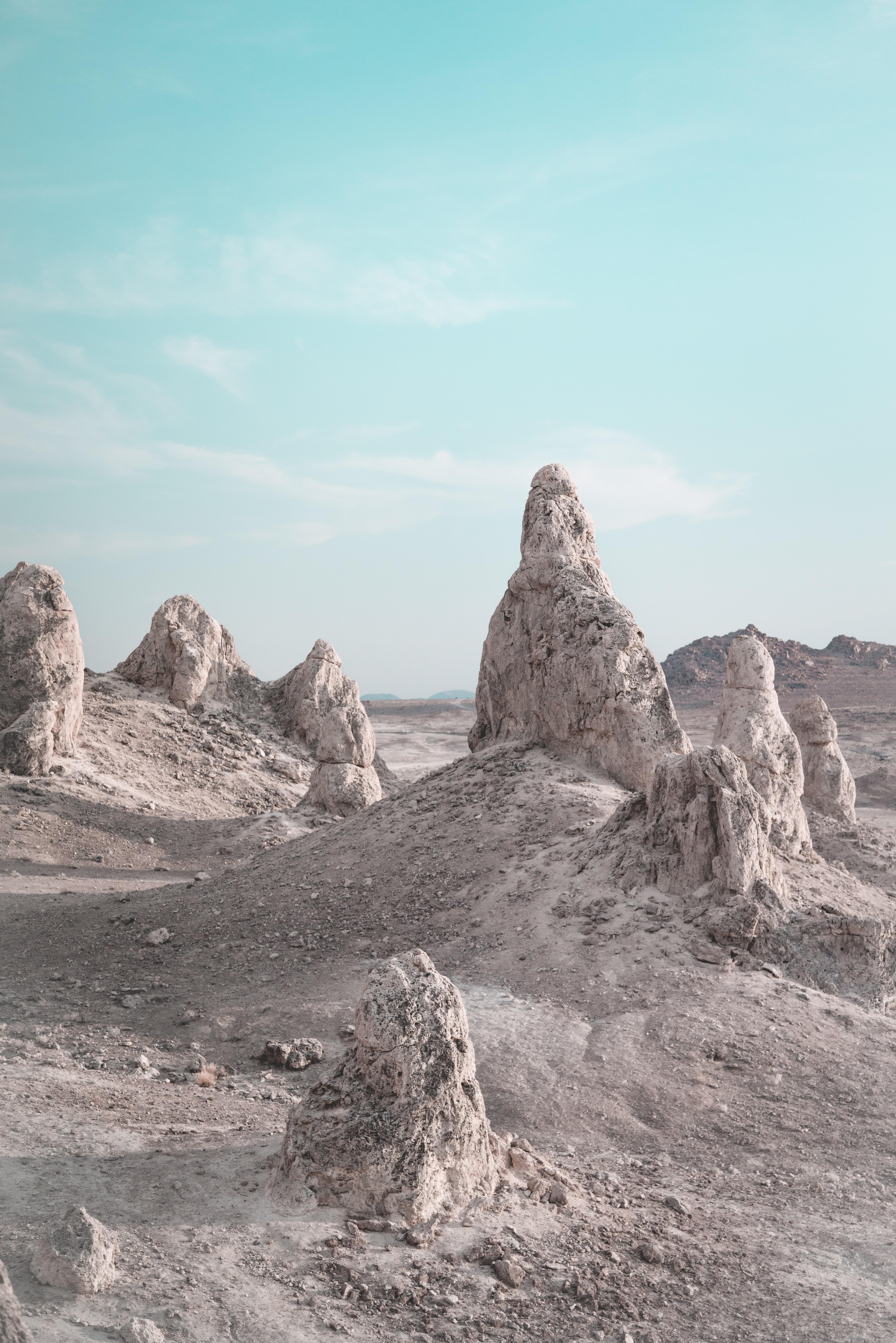 gray rock formation under blue sky