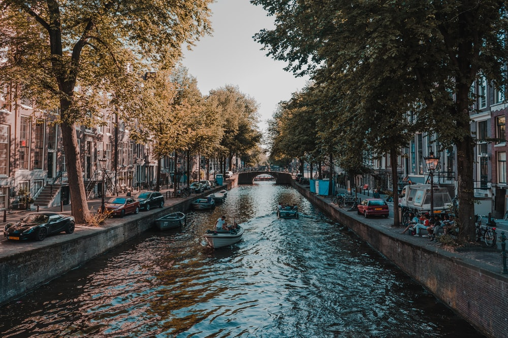 Amsterdam, Netherlands canal during daytime