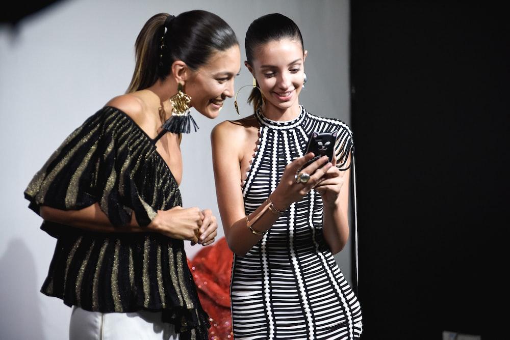 women's white and black halter dress