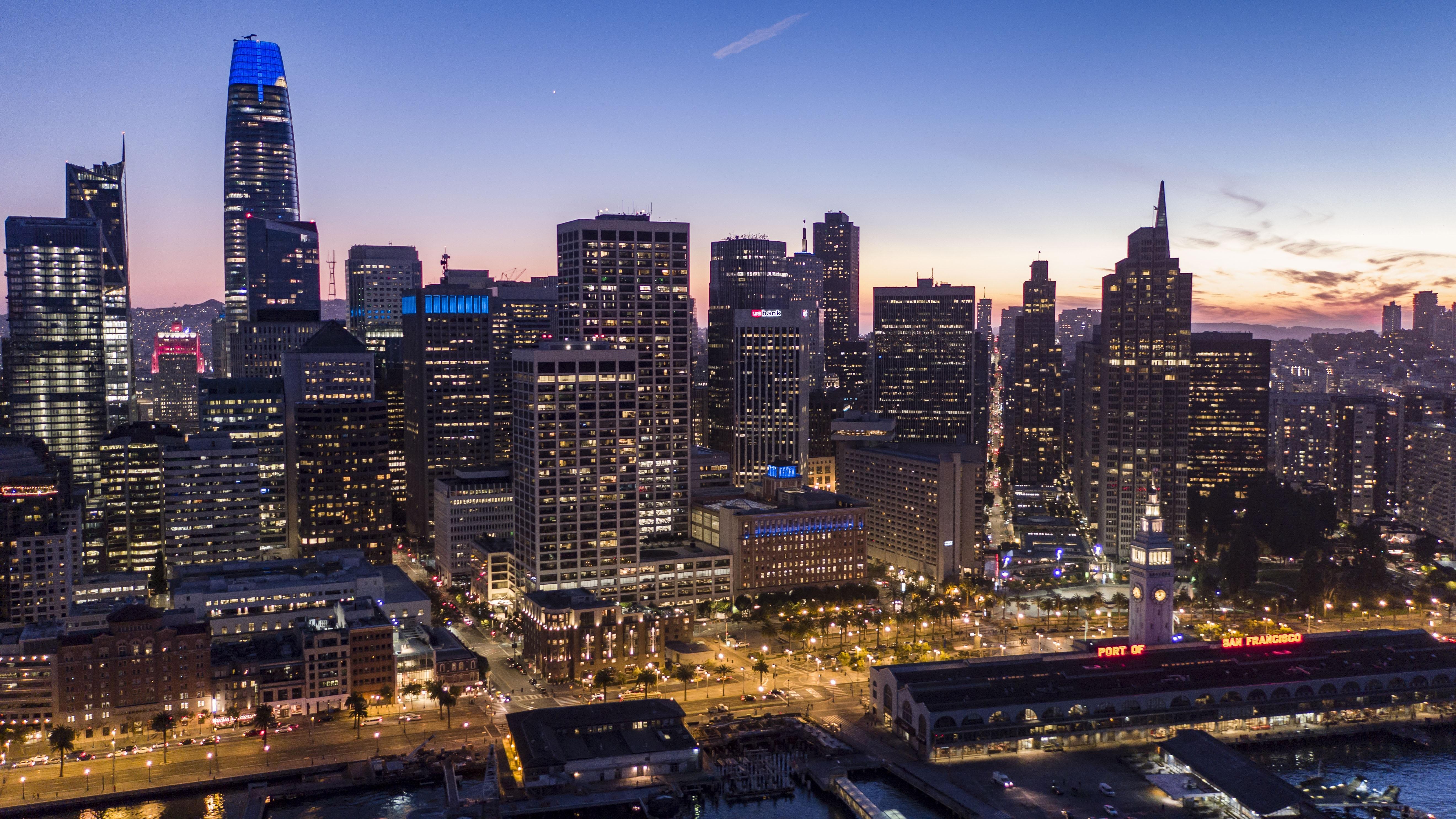 city night buildings