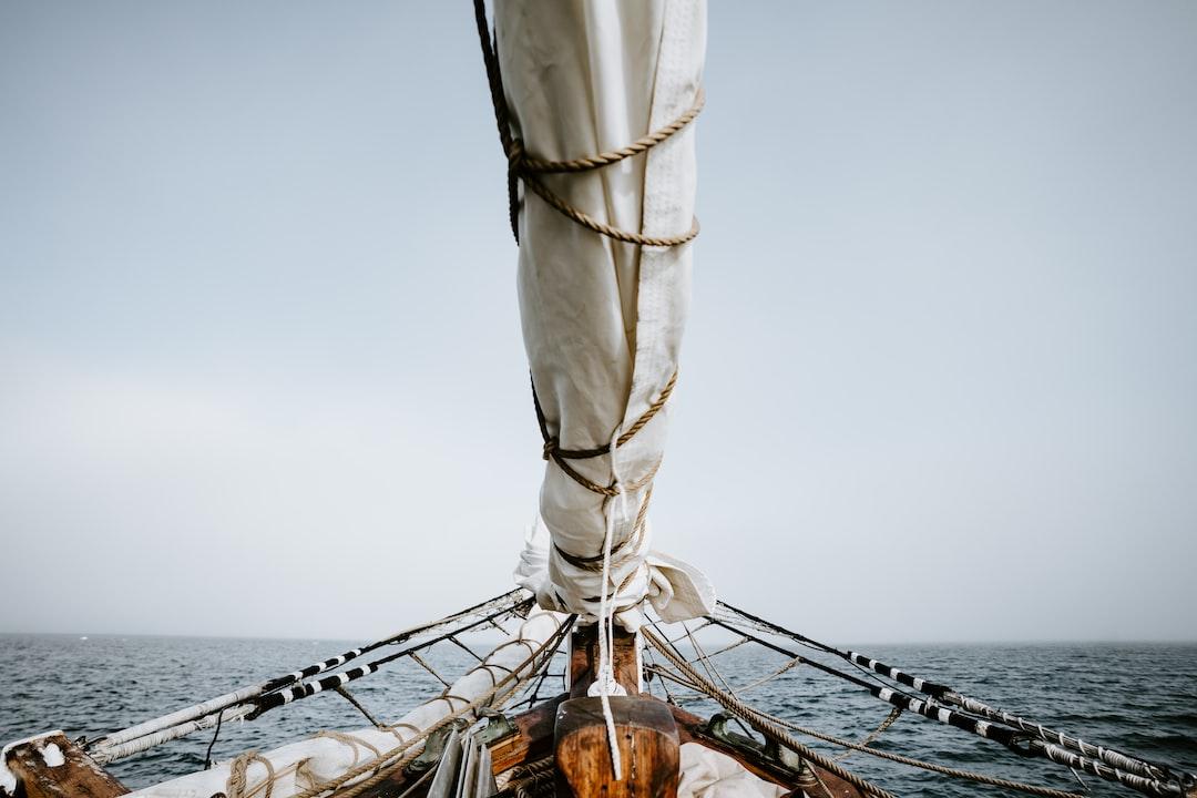 Ship sailing at sea