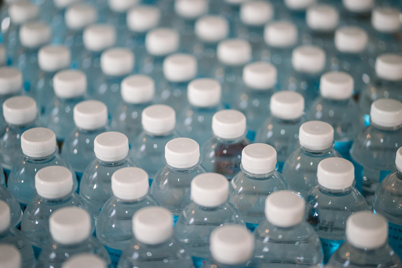 white plastic bottle lot