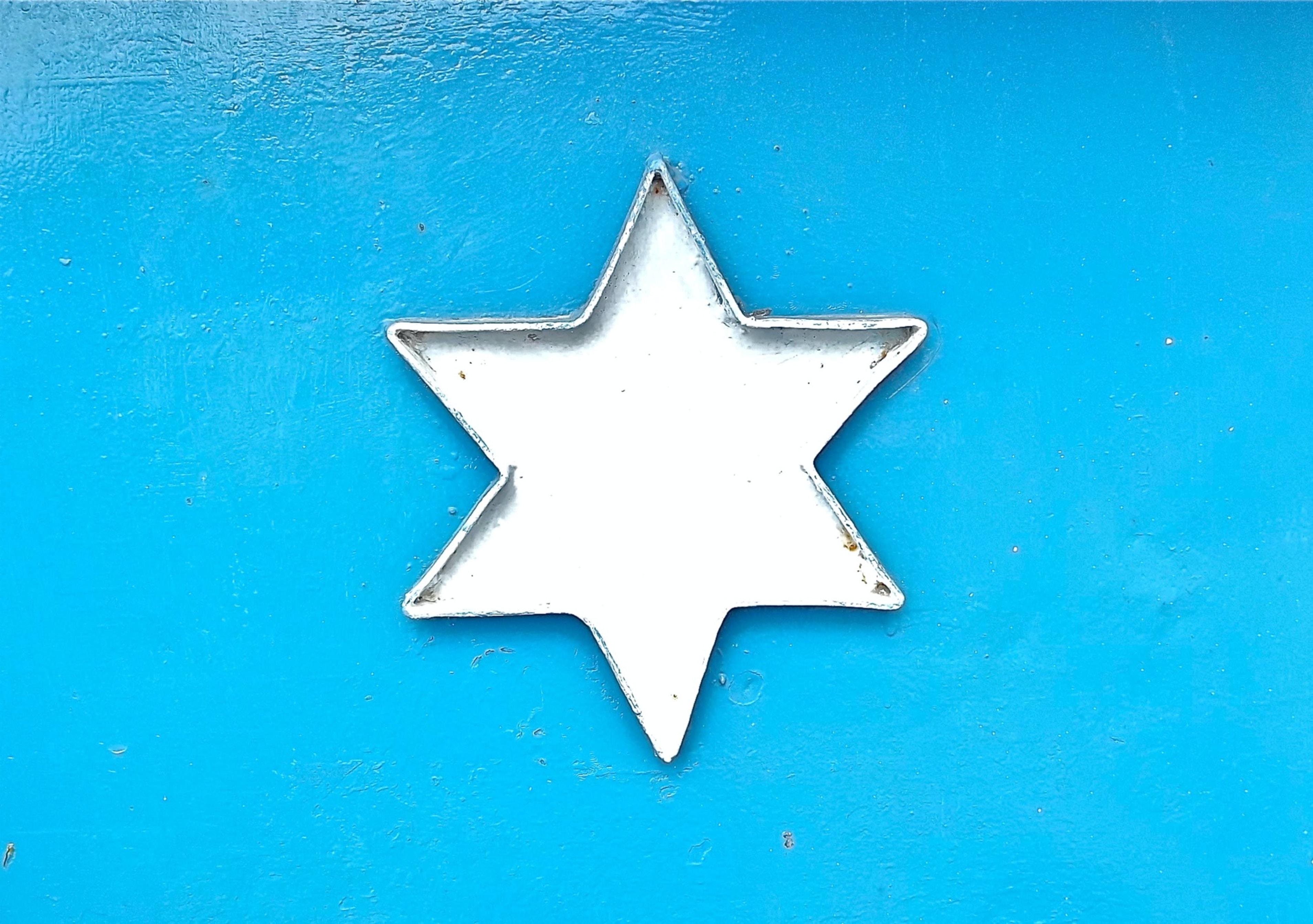 gray steel star decor
