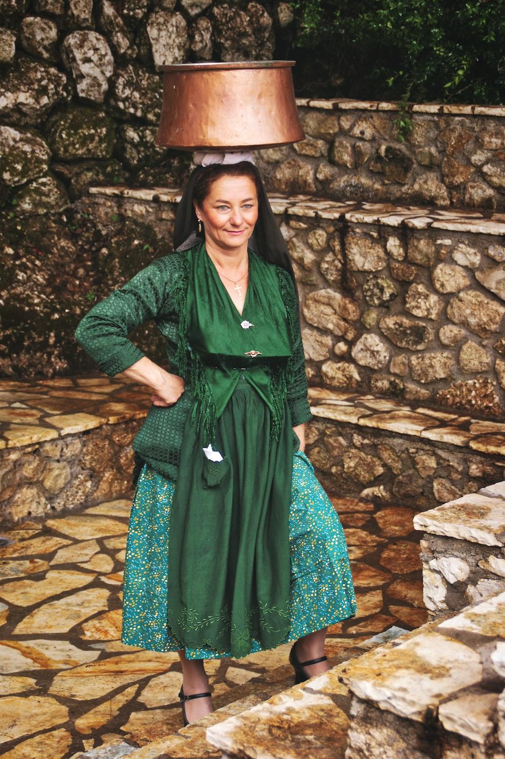 women's green dress