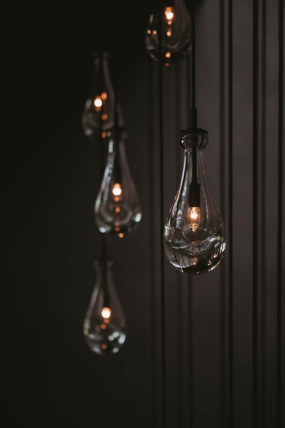 closeup photography of turned-on light bulbs