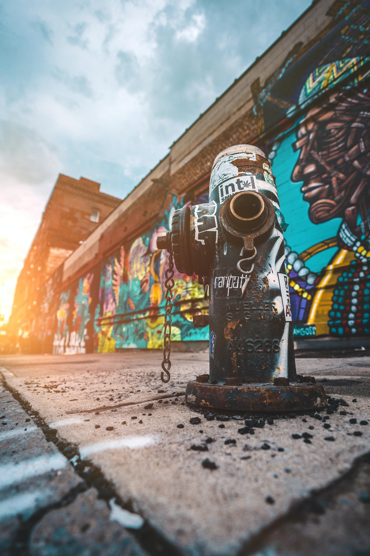 black fire hydrant