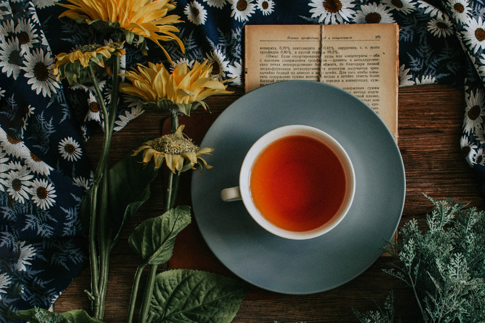 cup of tea on saucer