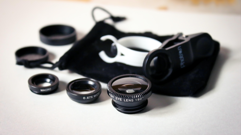 black clip lenses