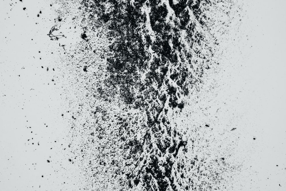 white and black digital wallpaper