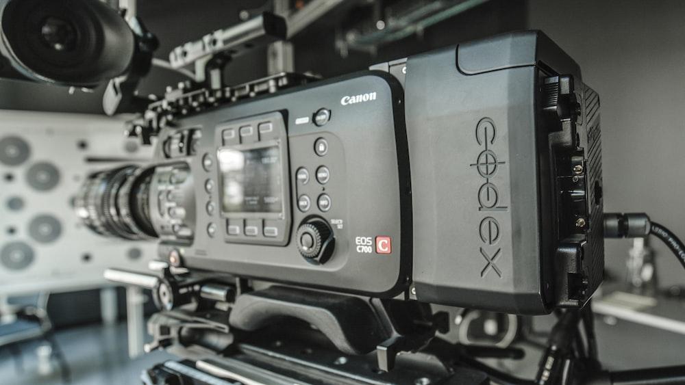 black Canon professional camera