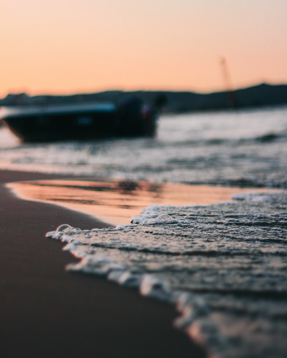 selective focus photography of sea