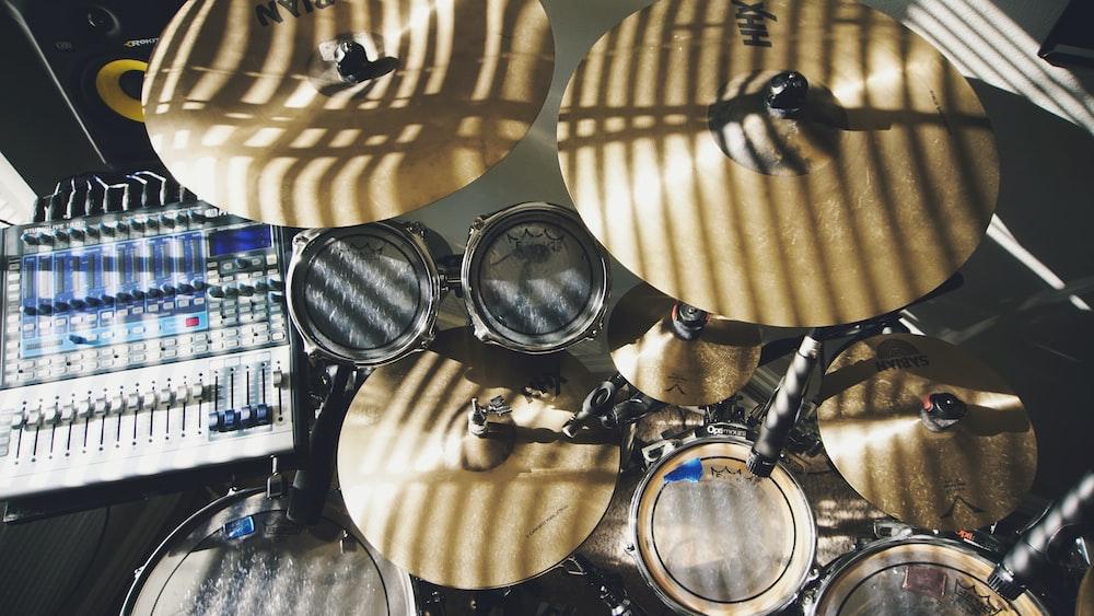 brass drum set