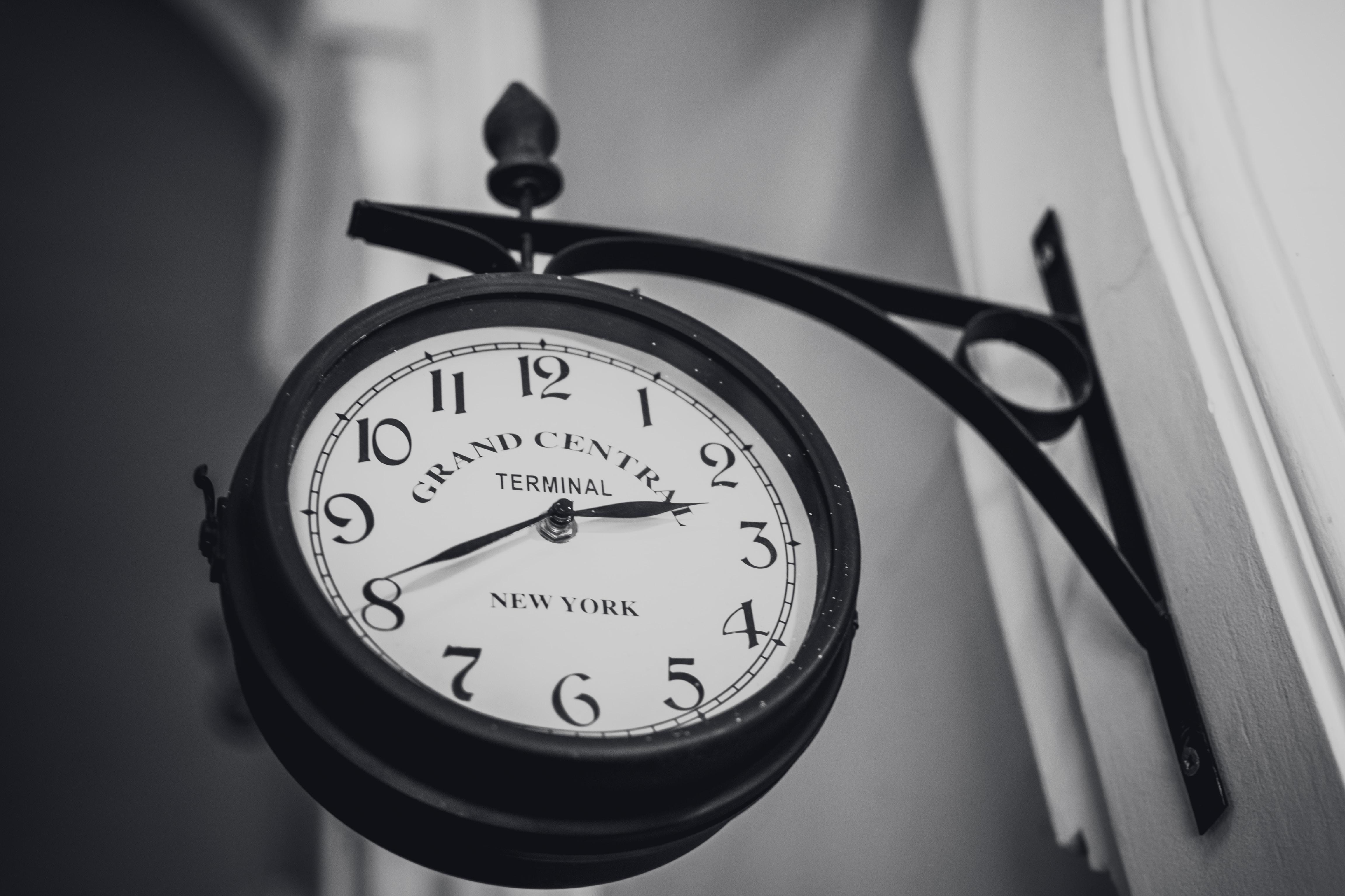 round black wall clock