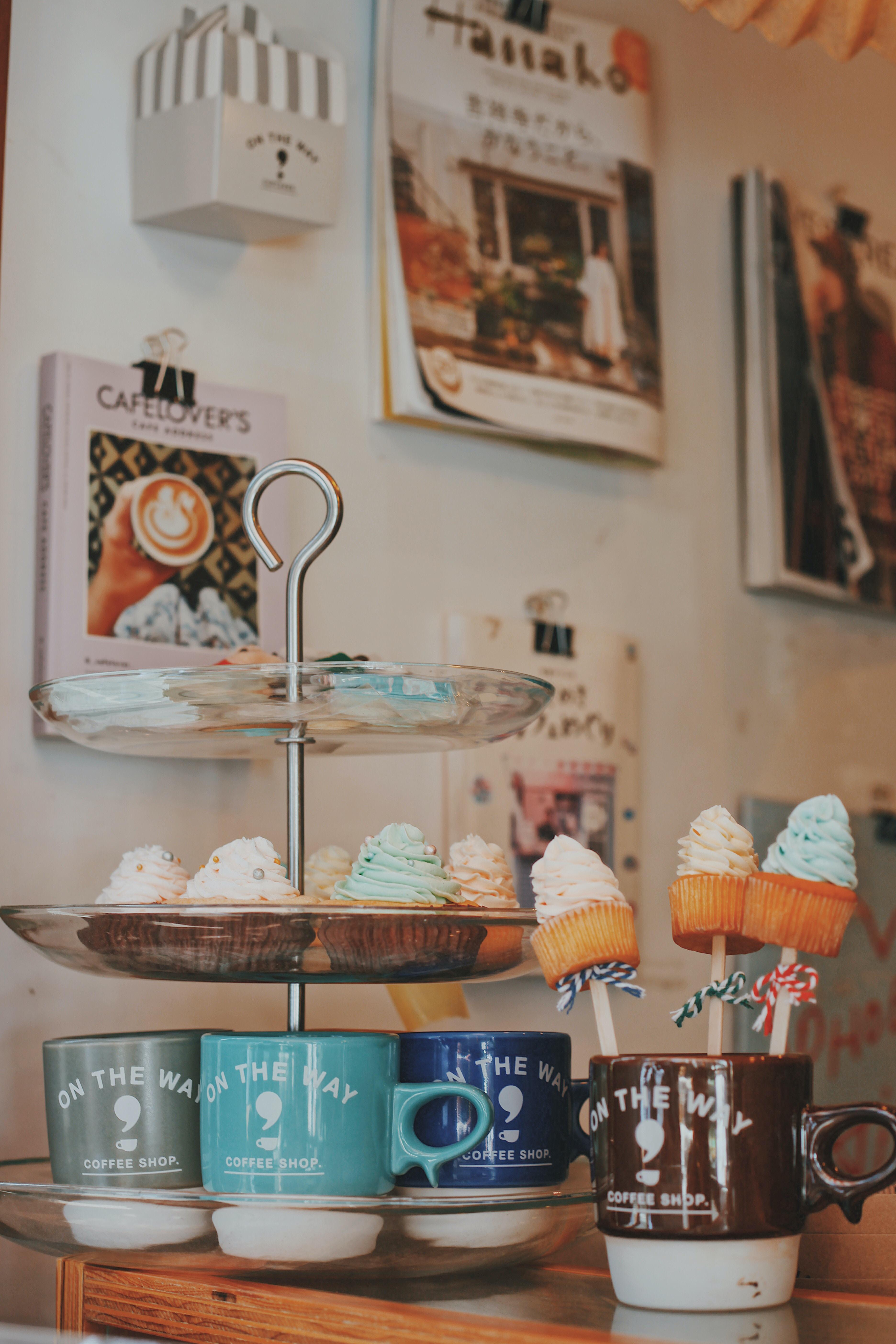 cupcake on cake rack