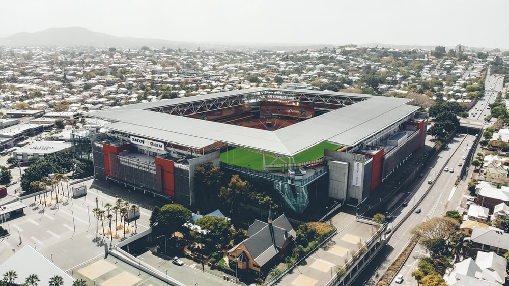 aerial photography of stadium during daytime