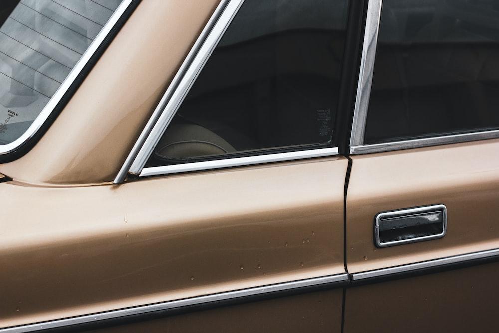 brown car door