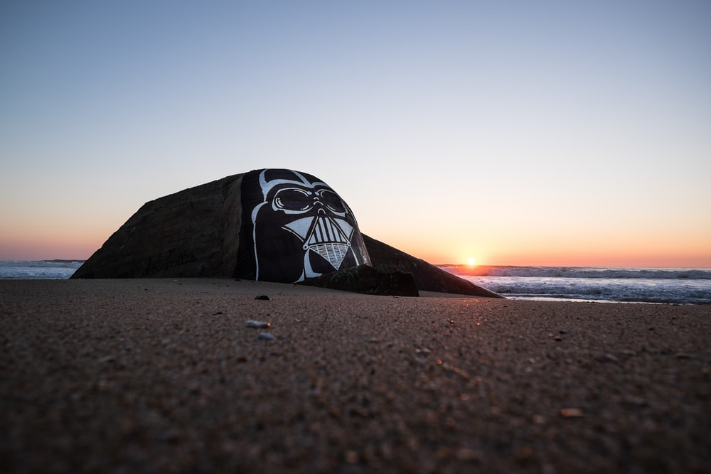 Star Wars Darth Vader decor near body of water