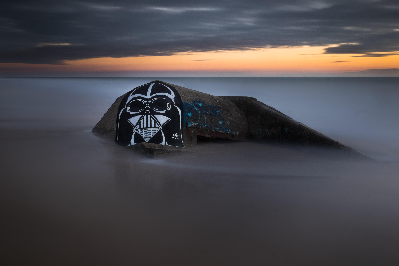 Darth Vader logo on sky