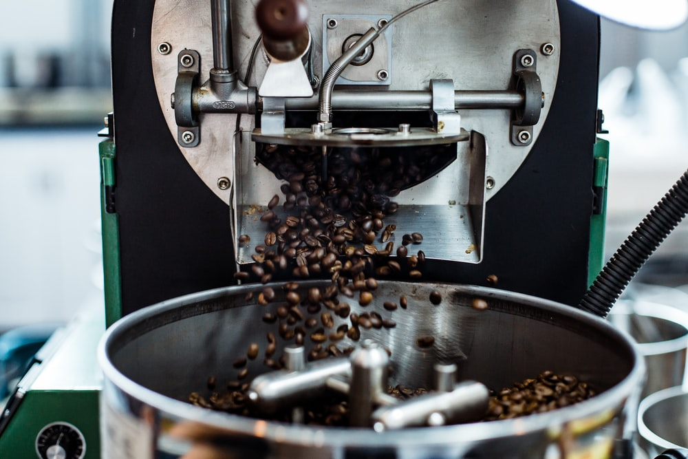 time lapse photography of coffee beans grind