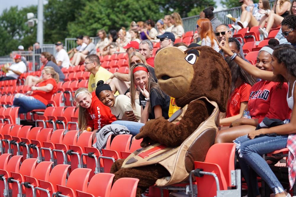 brown animal mascot