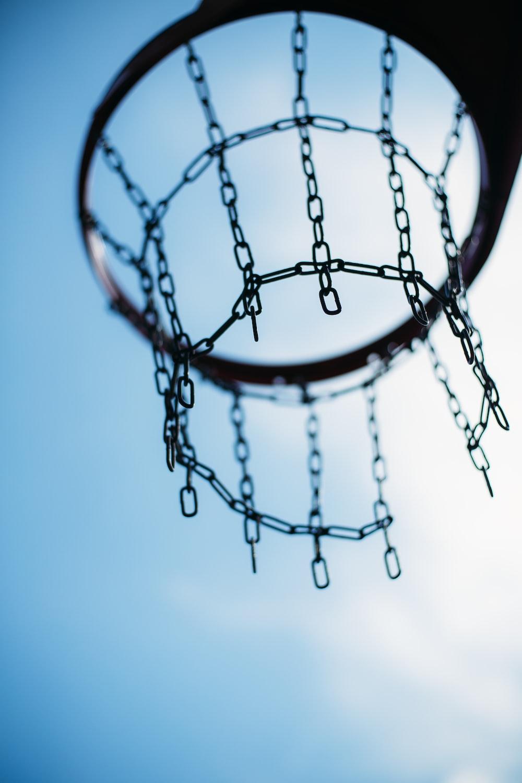 brown basketball hoop