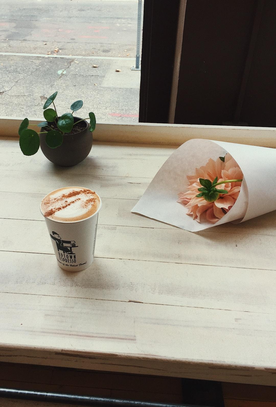 dirty chai + flowers