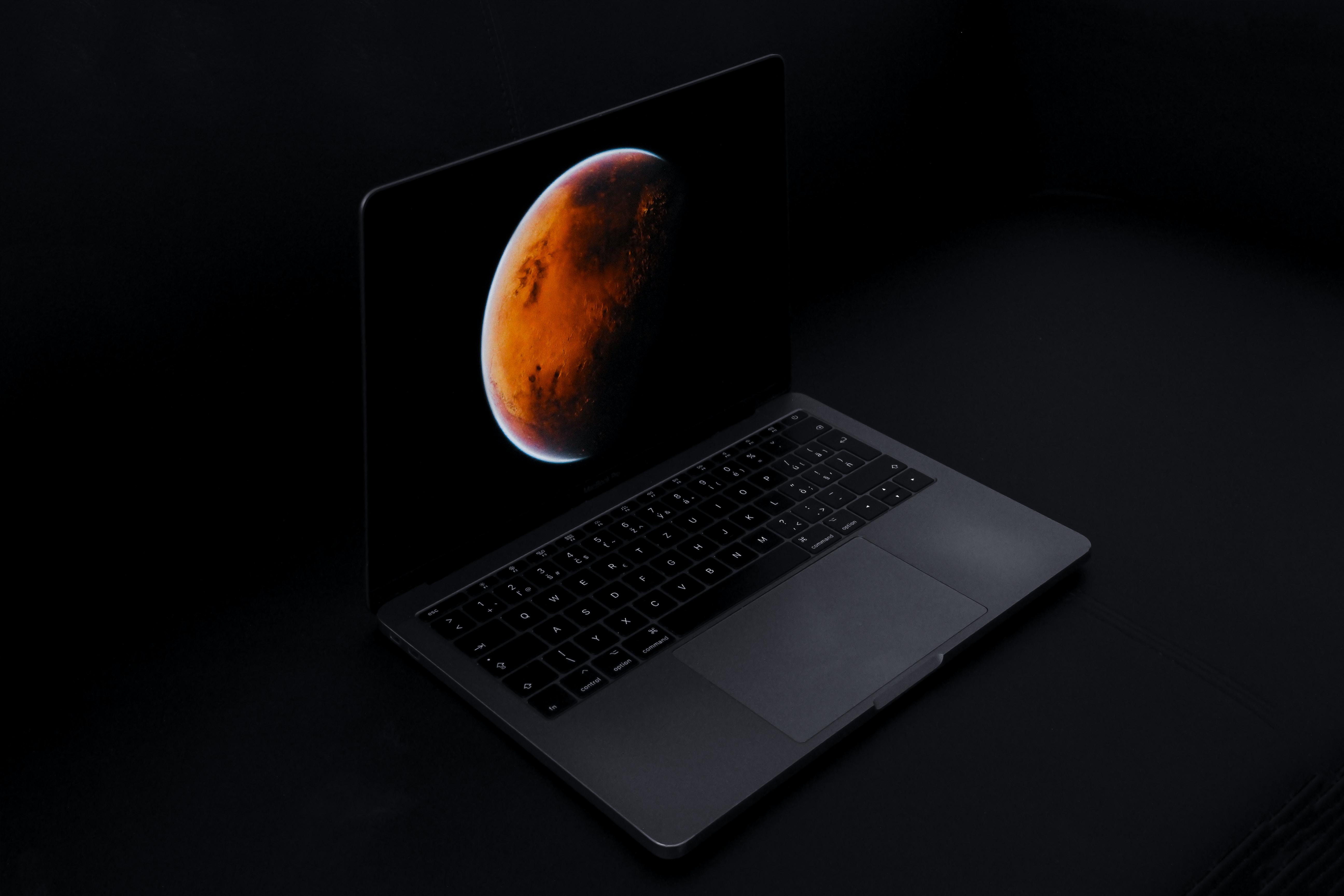 gray laptop computer