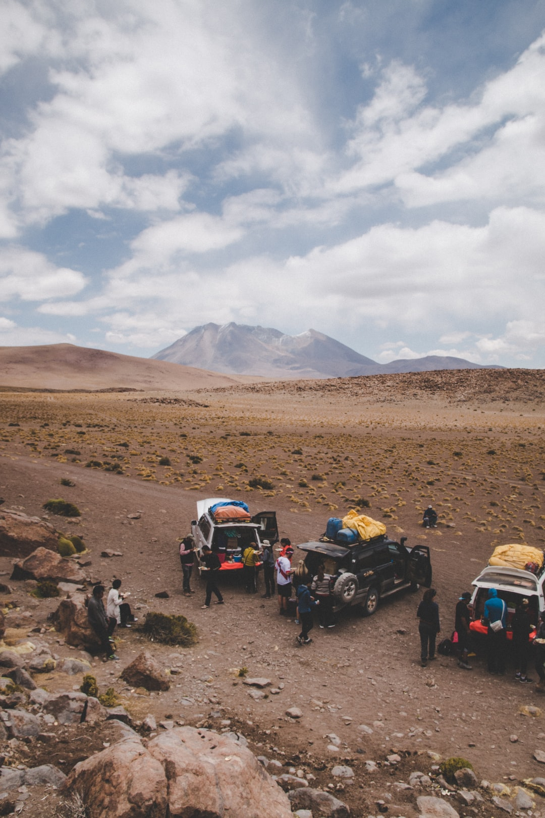 Just eating lunch of the back of the trucks that we cruised the Bolivian Altiplano in for 4 days.