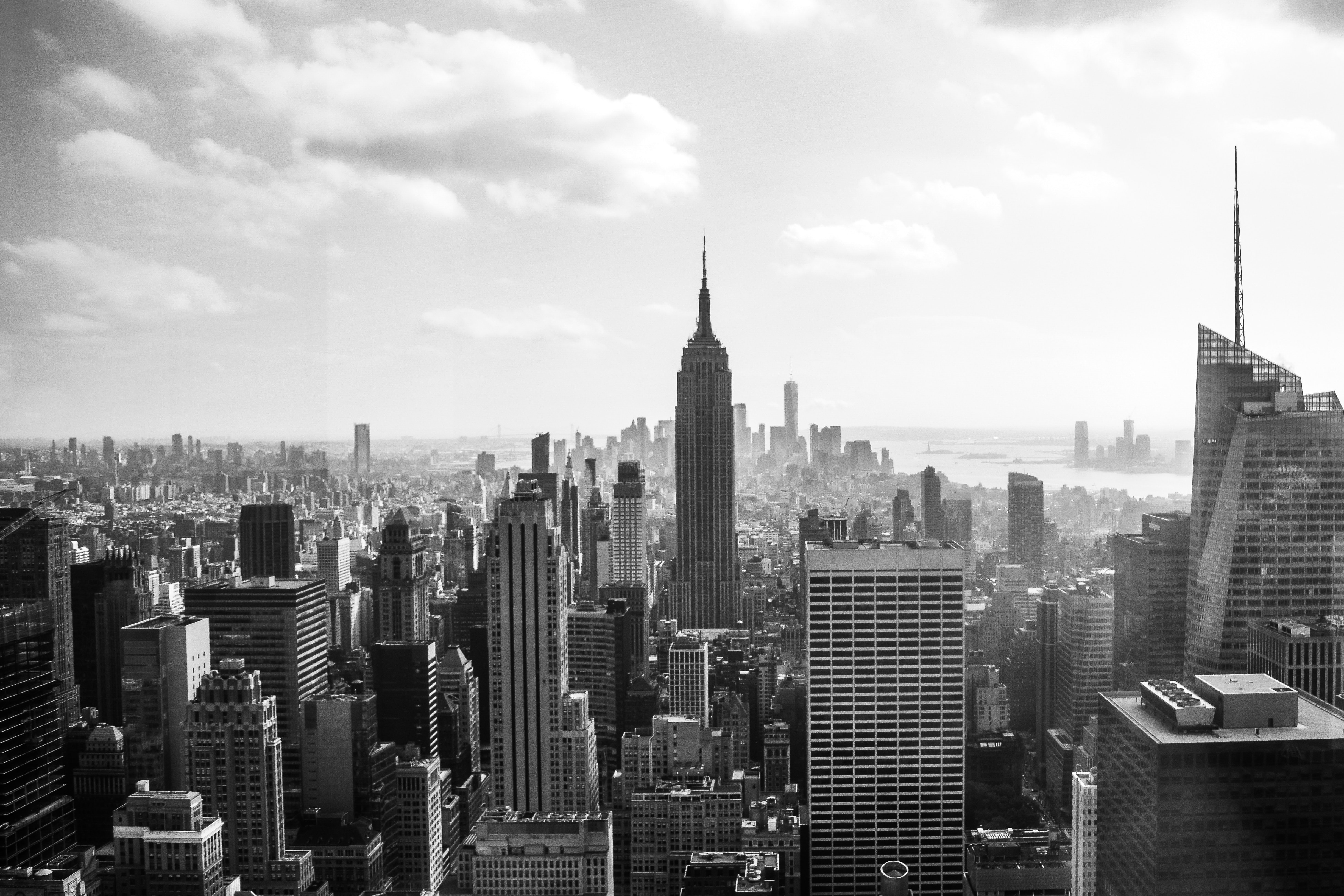 grayscale photo of Empire State Building