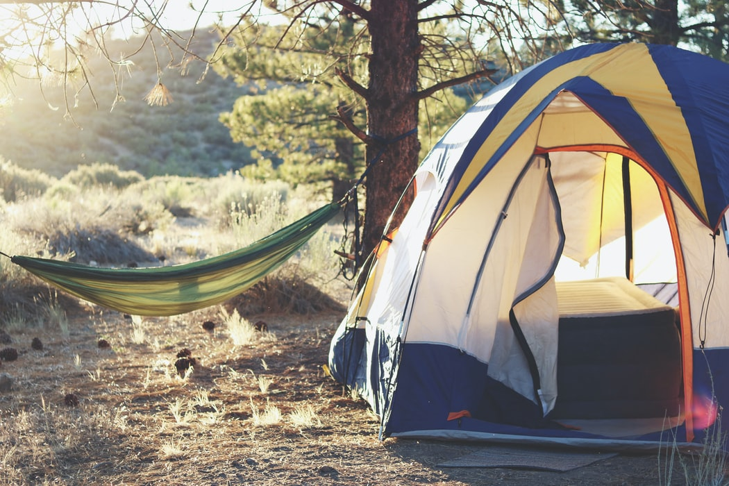 tent and hammock