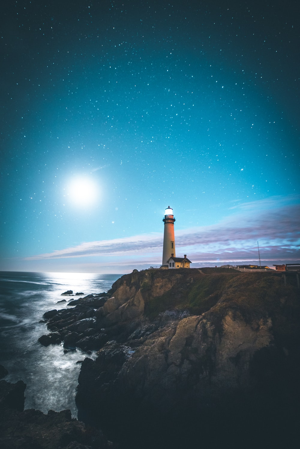 brown lighthouse