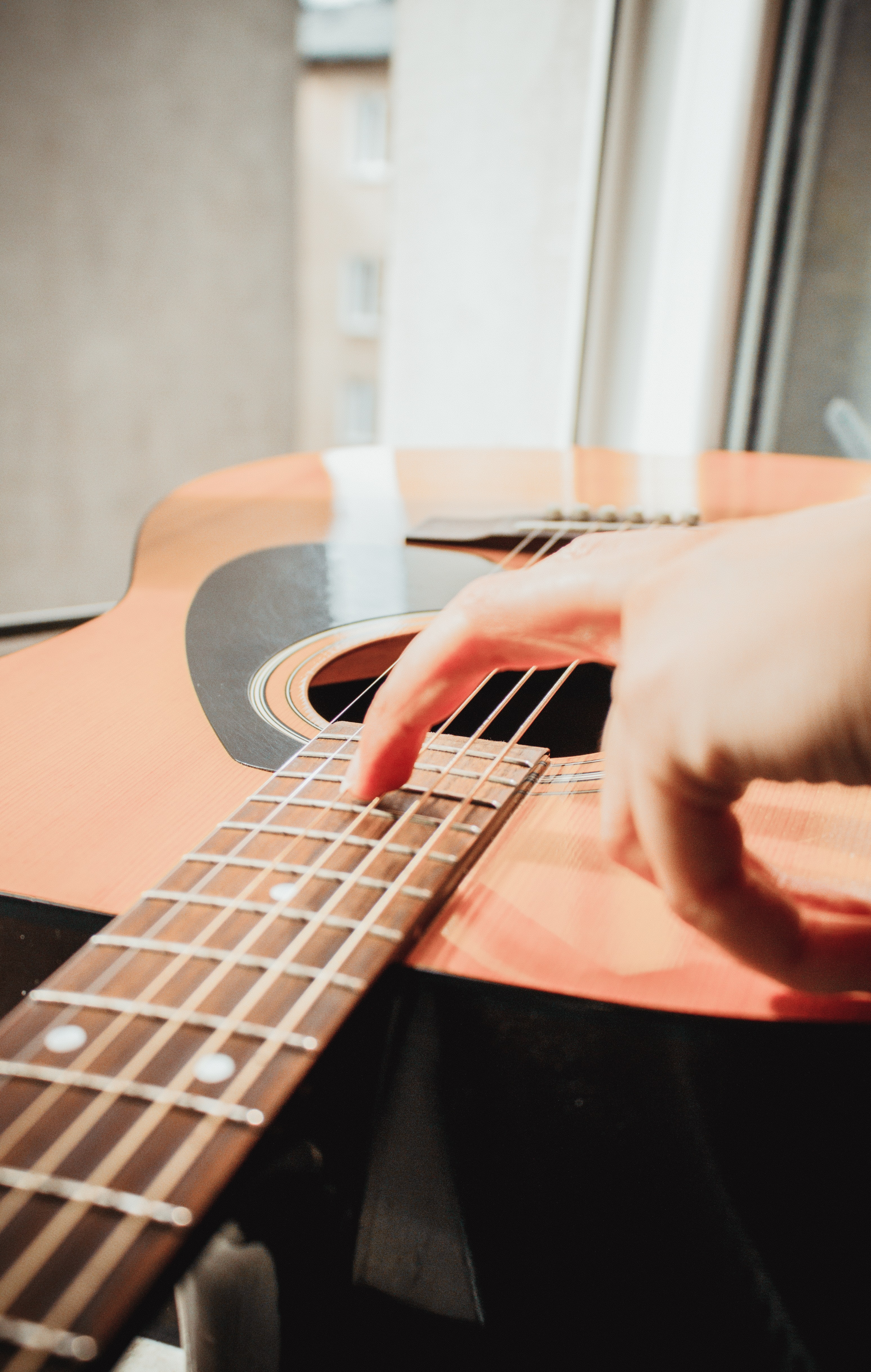 person holding guitar