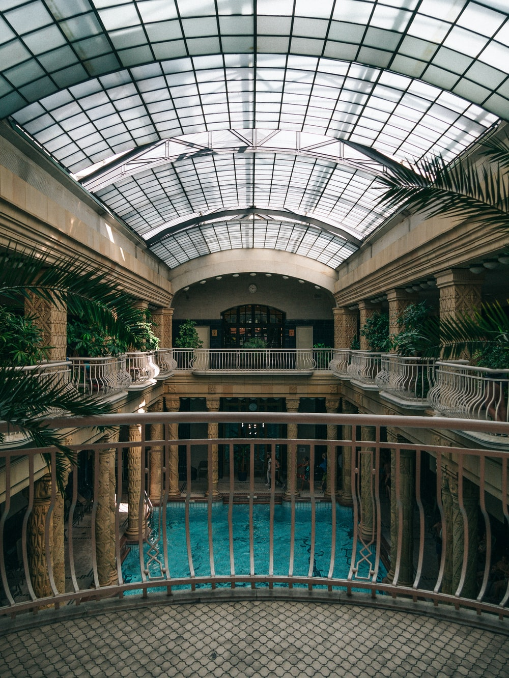 blue indoor pool interior