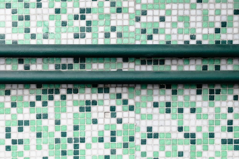 green metal frame