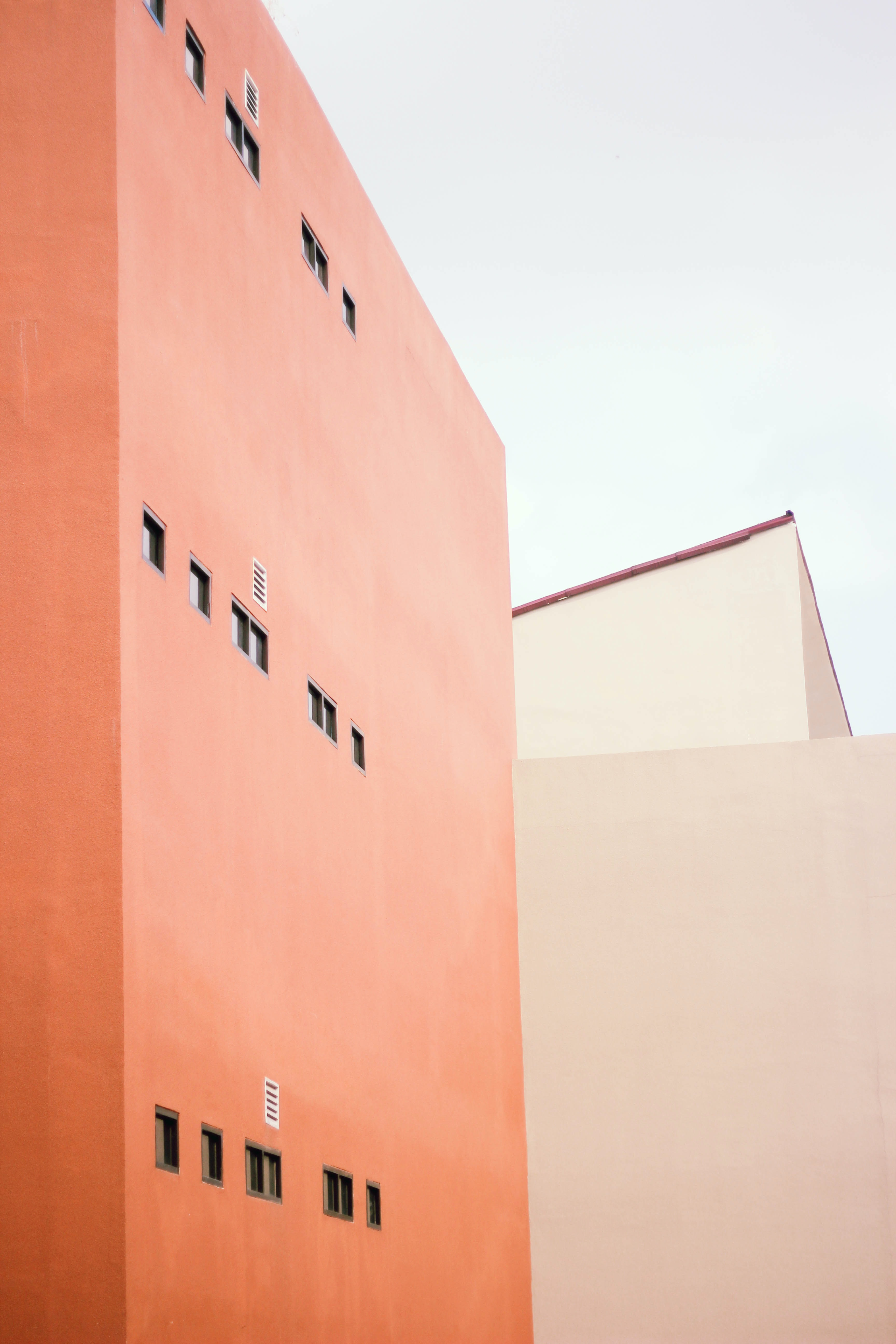 orange painted building