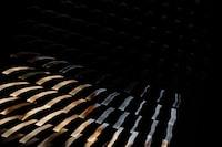 black and brown stripe wallpaper