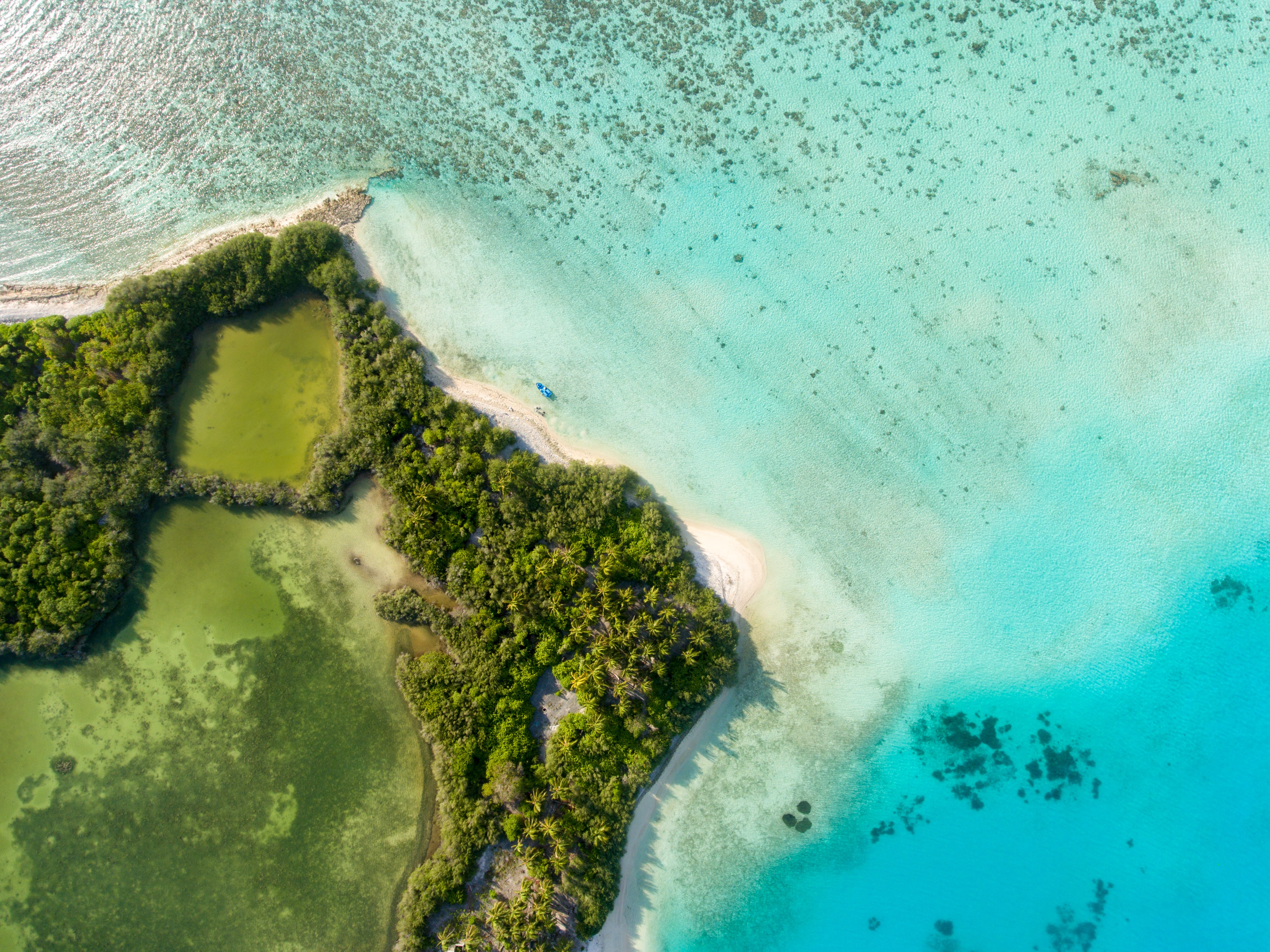 aerial photography of green island