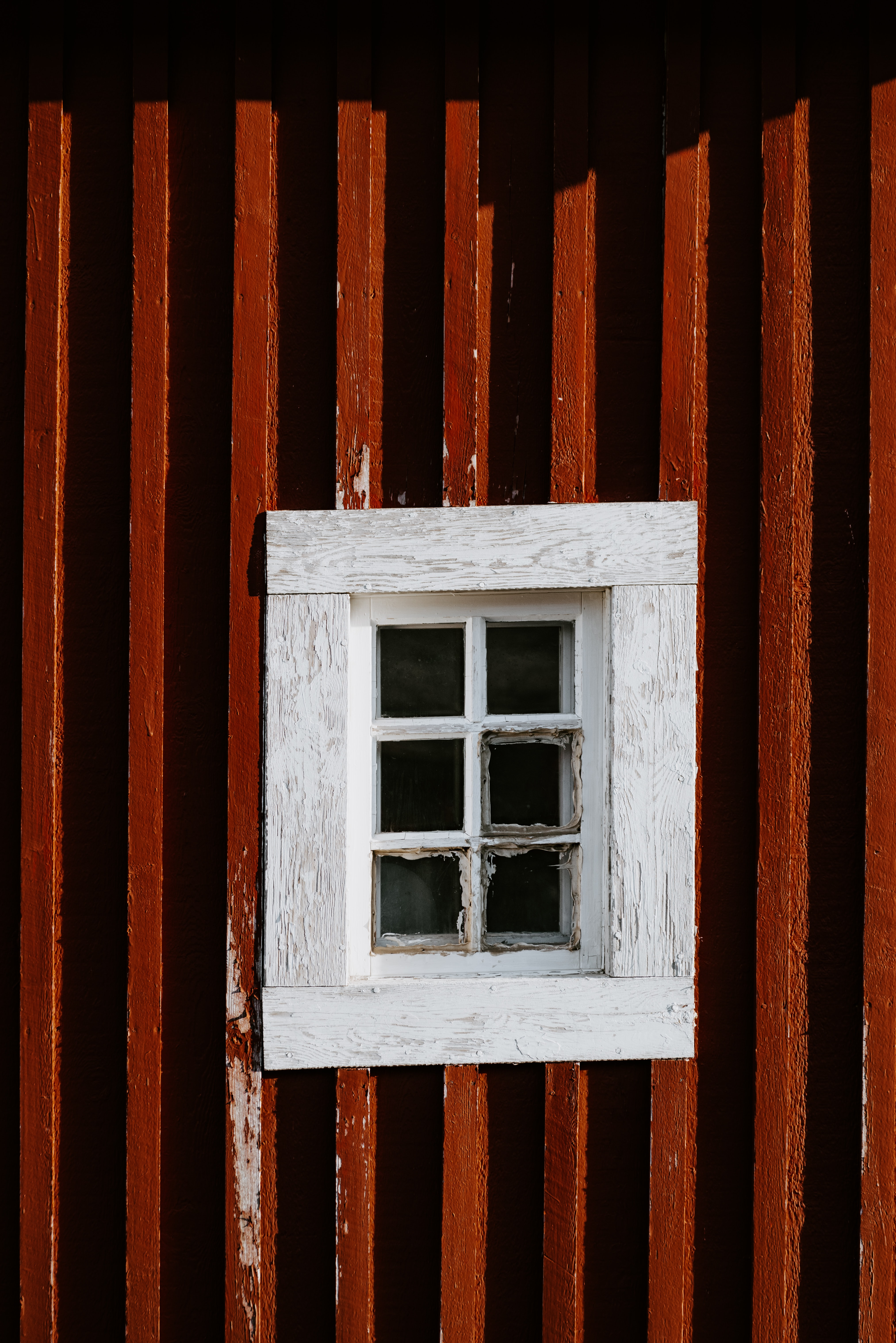 closed white wooden framed window