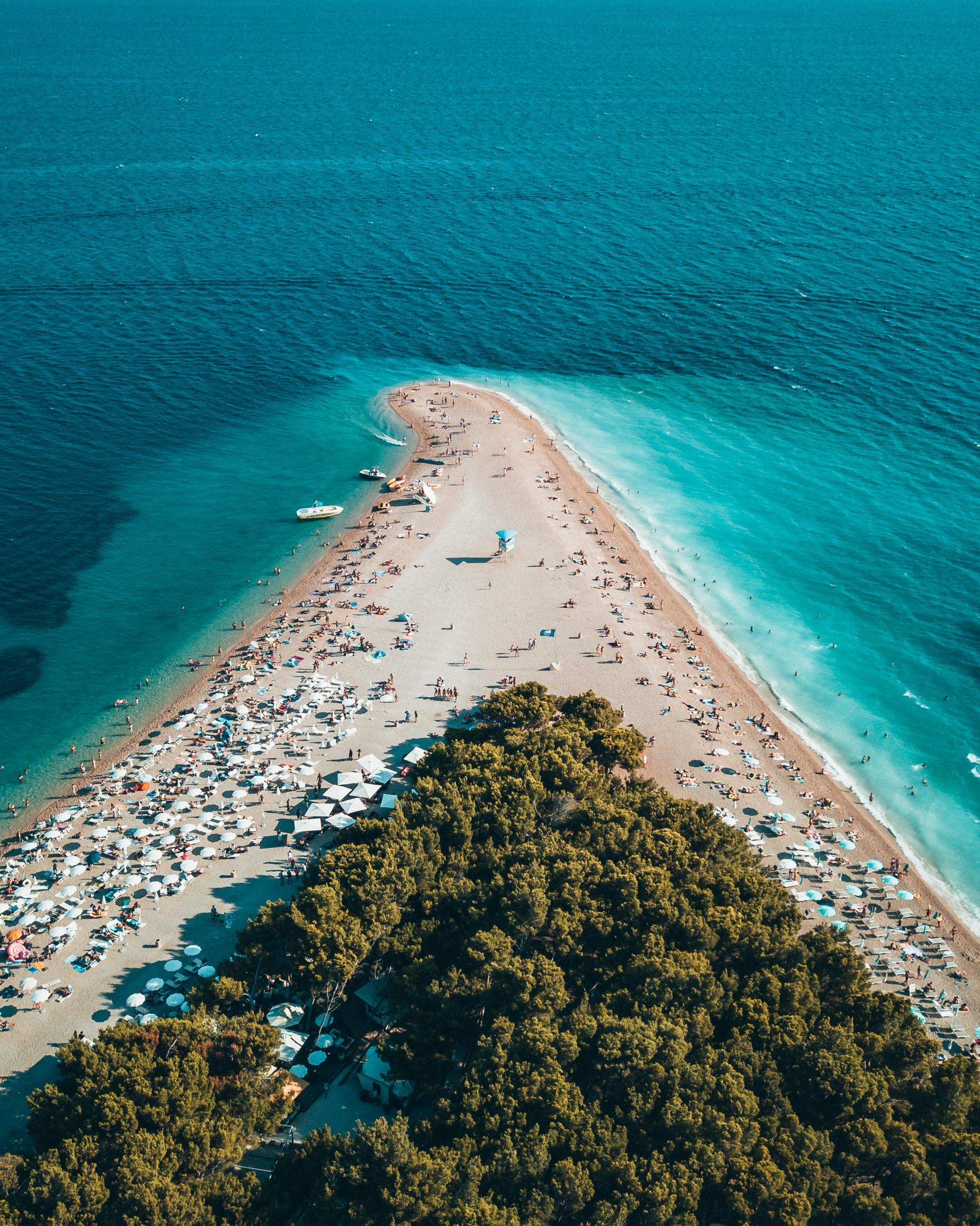 high-angle photo of island