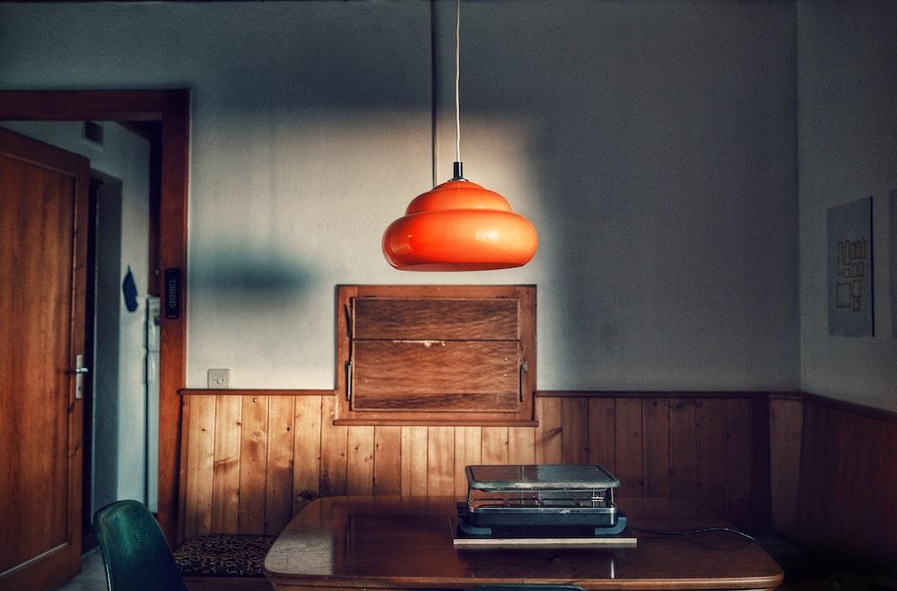 orange pendant lamp