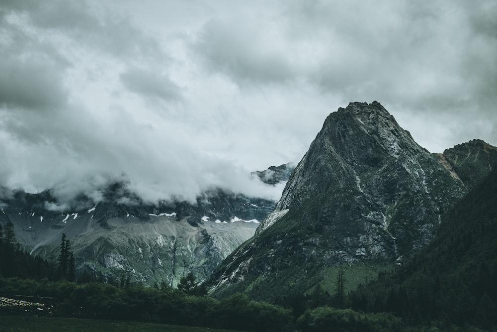 landscape photography of mountain under sky