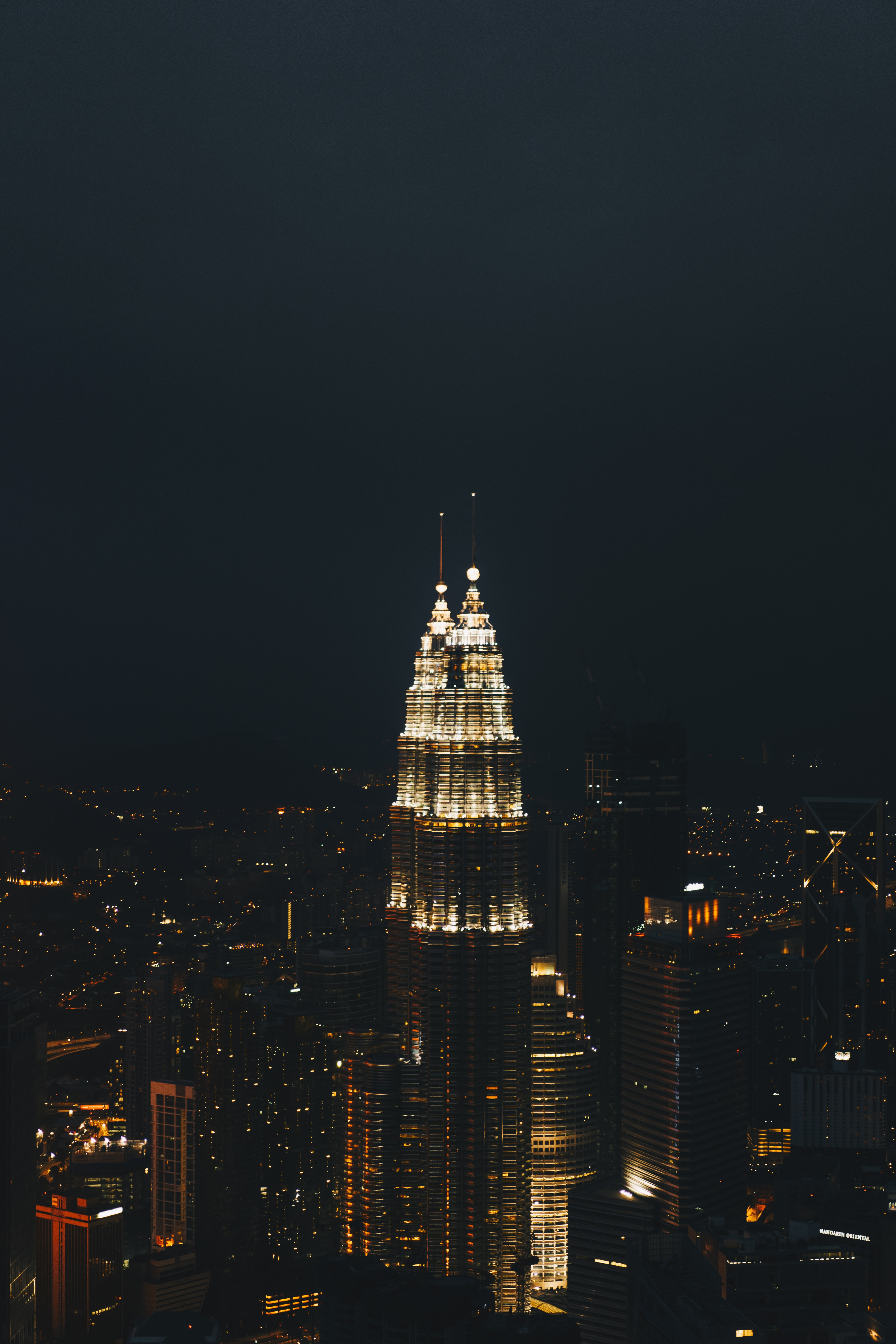 photo of tower during nighttime