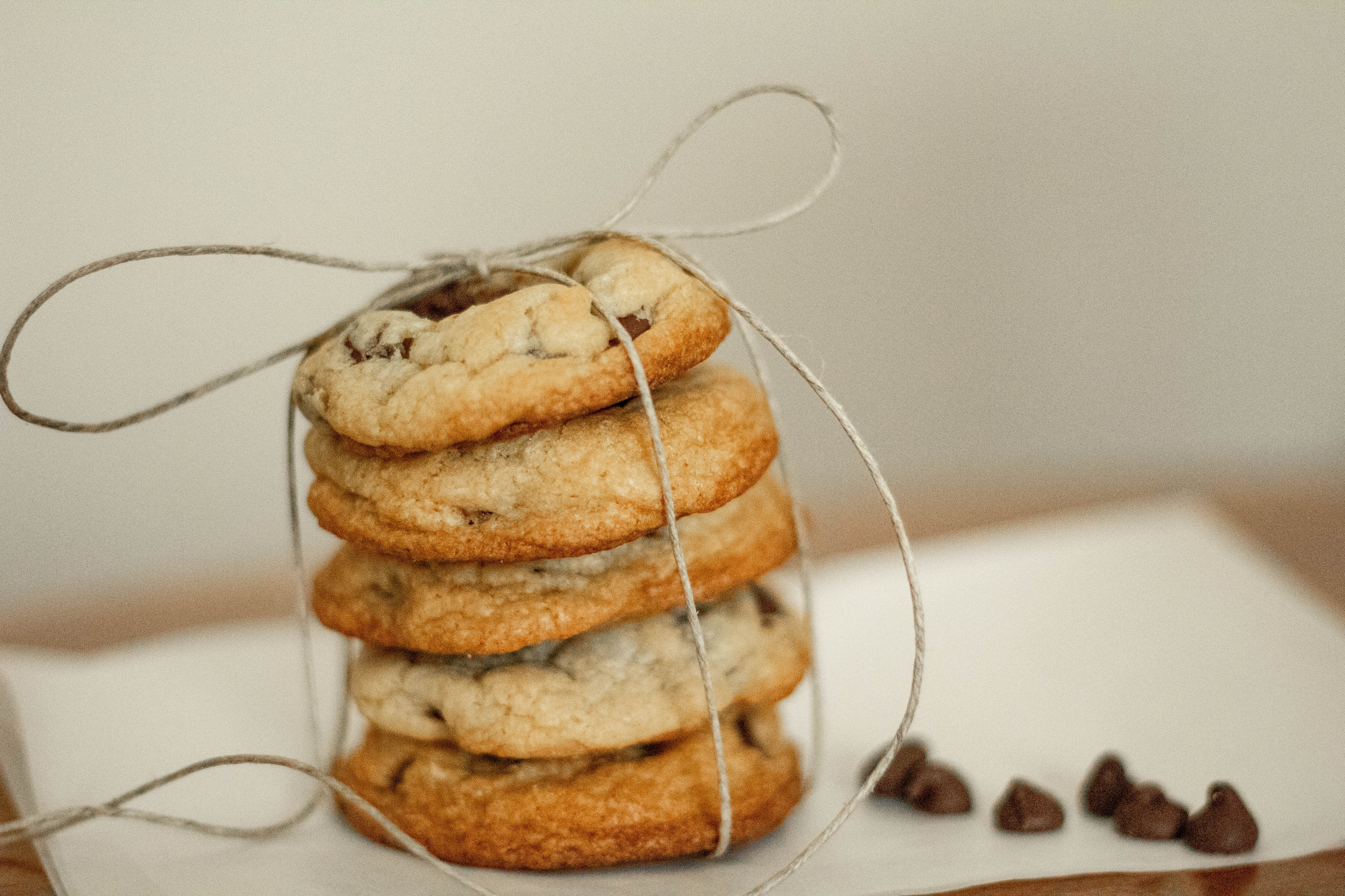 selective focus photography of baked cookies