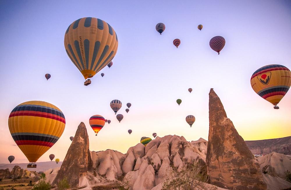 hot air balloon lot