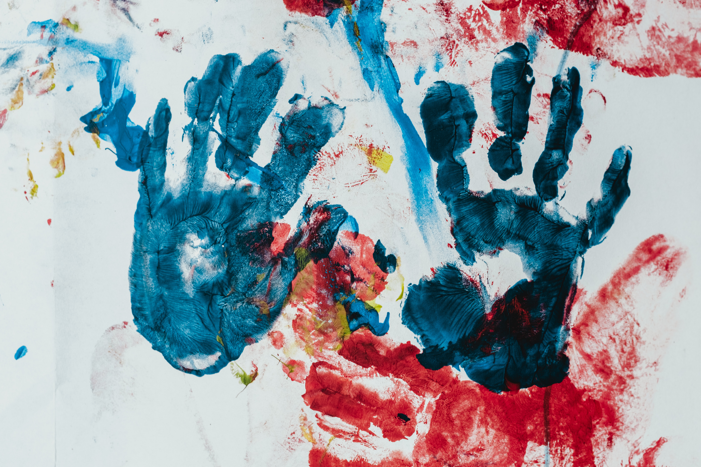 painting of handprints