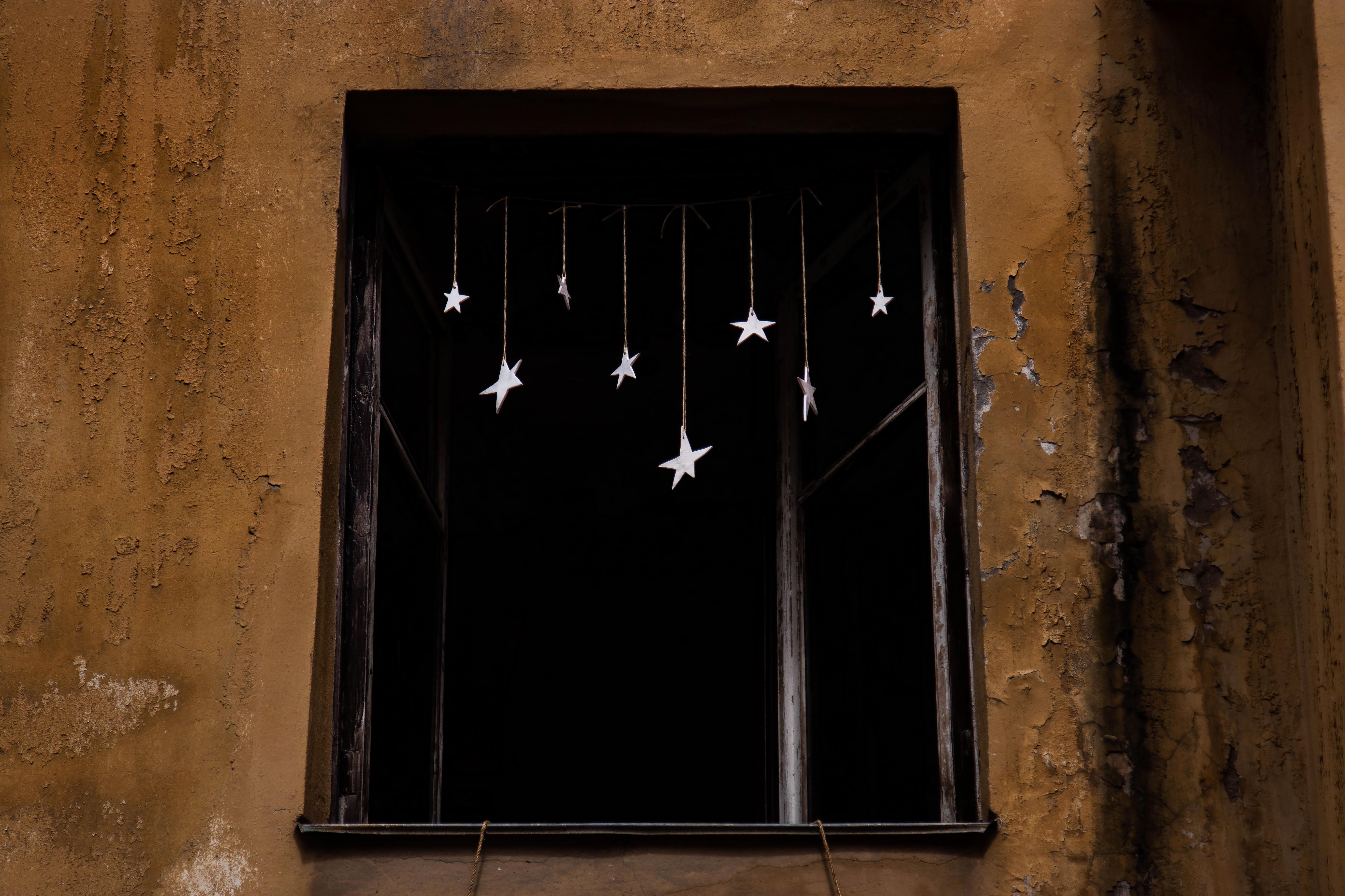 white star hanging decors