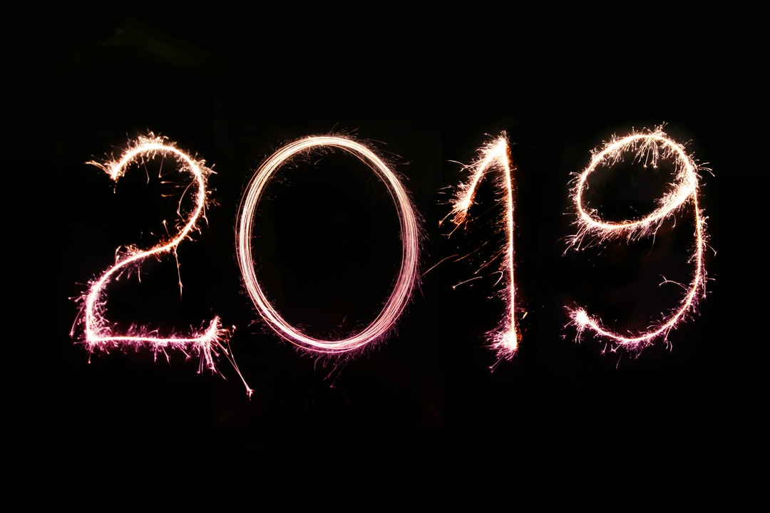 Long exposure photo of the 2019 numbers created with sparklers on a pitch-black background. Perfect for 2019 greeting cards and newsletter e-mails, personal and business social media & blog posts.   More shots like this > https://www.shutterstock.com/g/pink+broccoli Follow us on Instagram > https://www.instagram.com/nordwood For fierce WordPress bloggers > https://themeforest.net/user/nordwood/portfolio