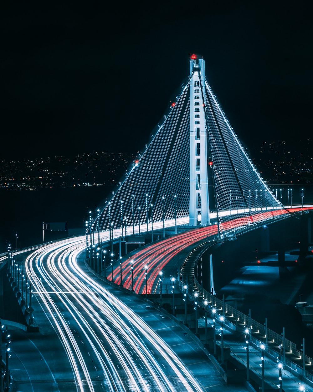 San Francisco bridge during night time