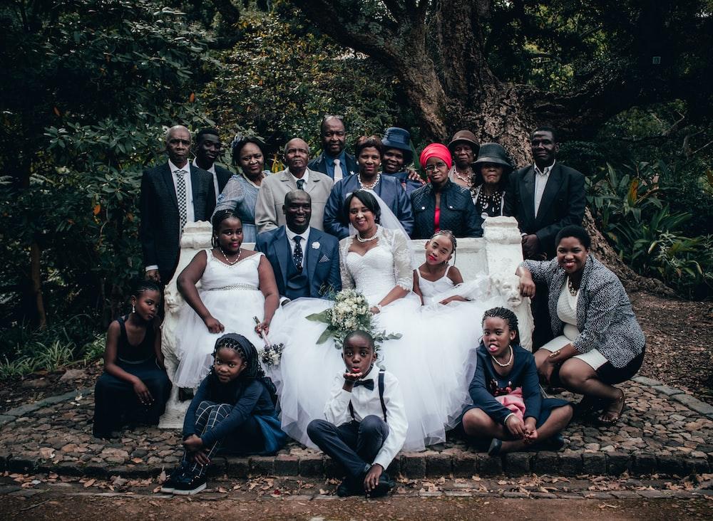 people taking wedding photograph