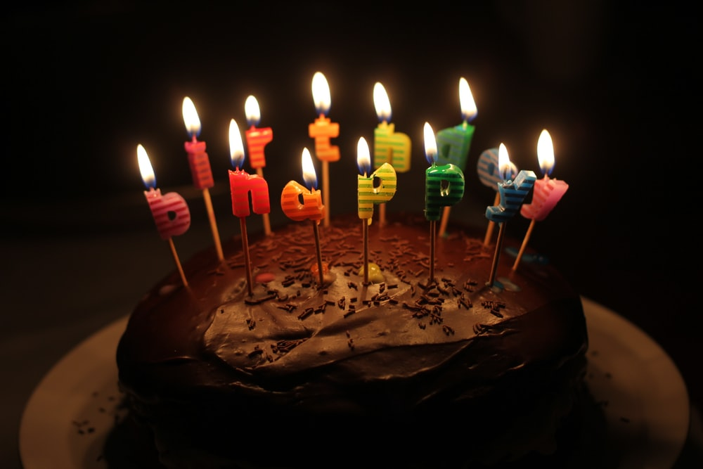 Lighted Happy Birthday Cake Candle Photo Free Birthday